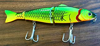 BHtackle 7 Inch Flexible Musky Pike Crankbait Lure Firetiger