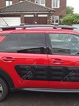 Barras de techo transversales bloqueables negras para Citroën C4 Cactus del 2014 y posteriores