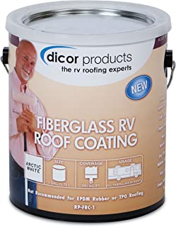 Dicor RP-FRCT-1 Fiberglass RV Roof Coating - 1 Gallon, Tan