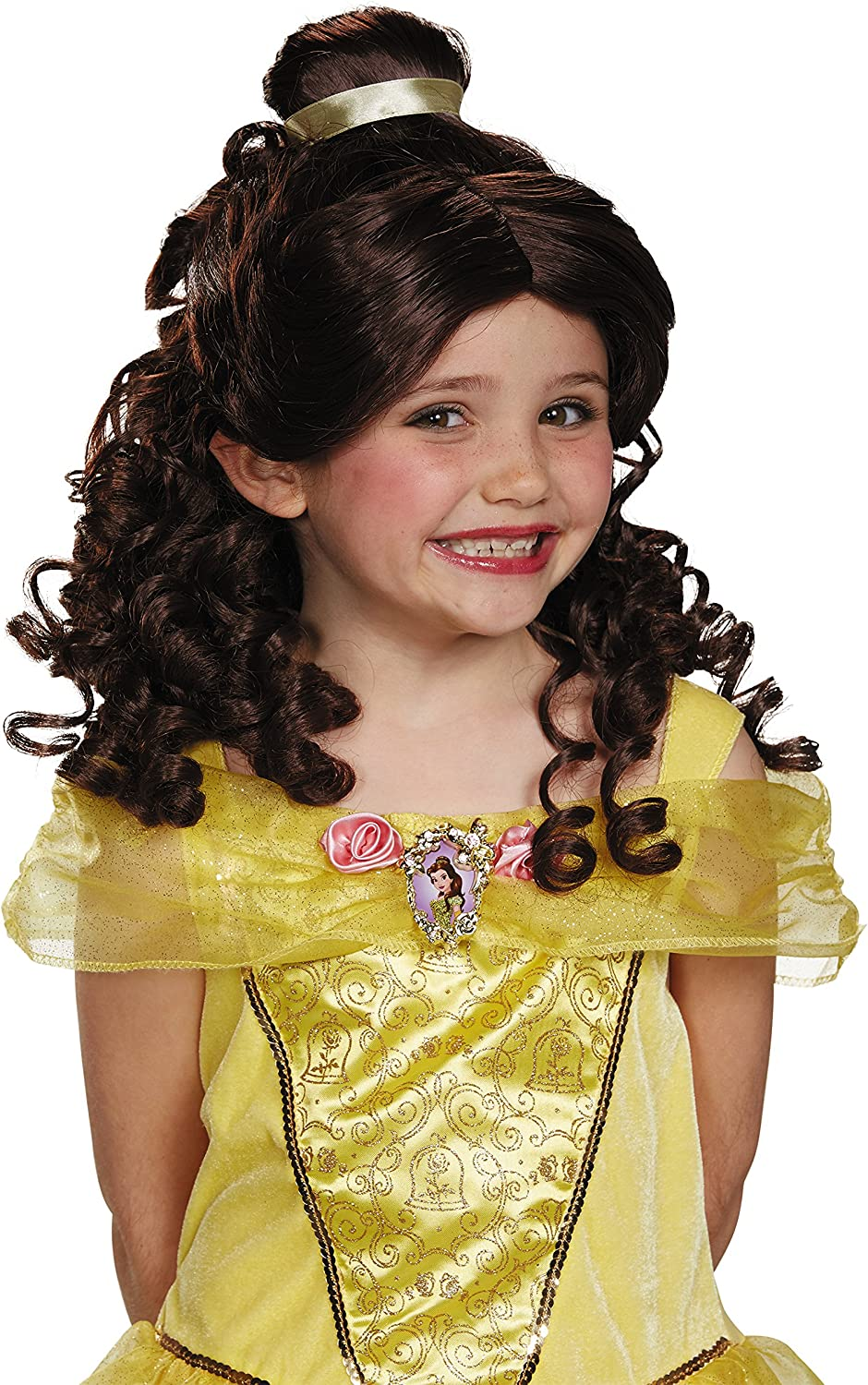 Disney Princess Belle Beauty & the Beast Girls' Wig : Clothing, Shoes & Jewelry