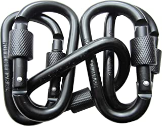 LeBeila 5 PCS Carabiner Climbing D Ring Keychain with Clip Durable Heavy Duty Aluminum Screw Locking Hooks for Hiking, Fis...