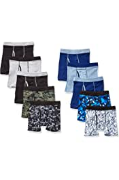 Boys' ComfortSoft Waistband Boxer Briefs 10-Pack...