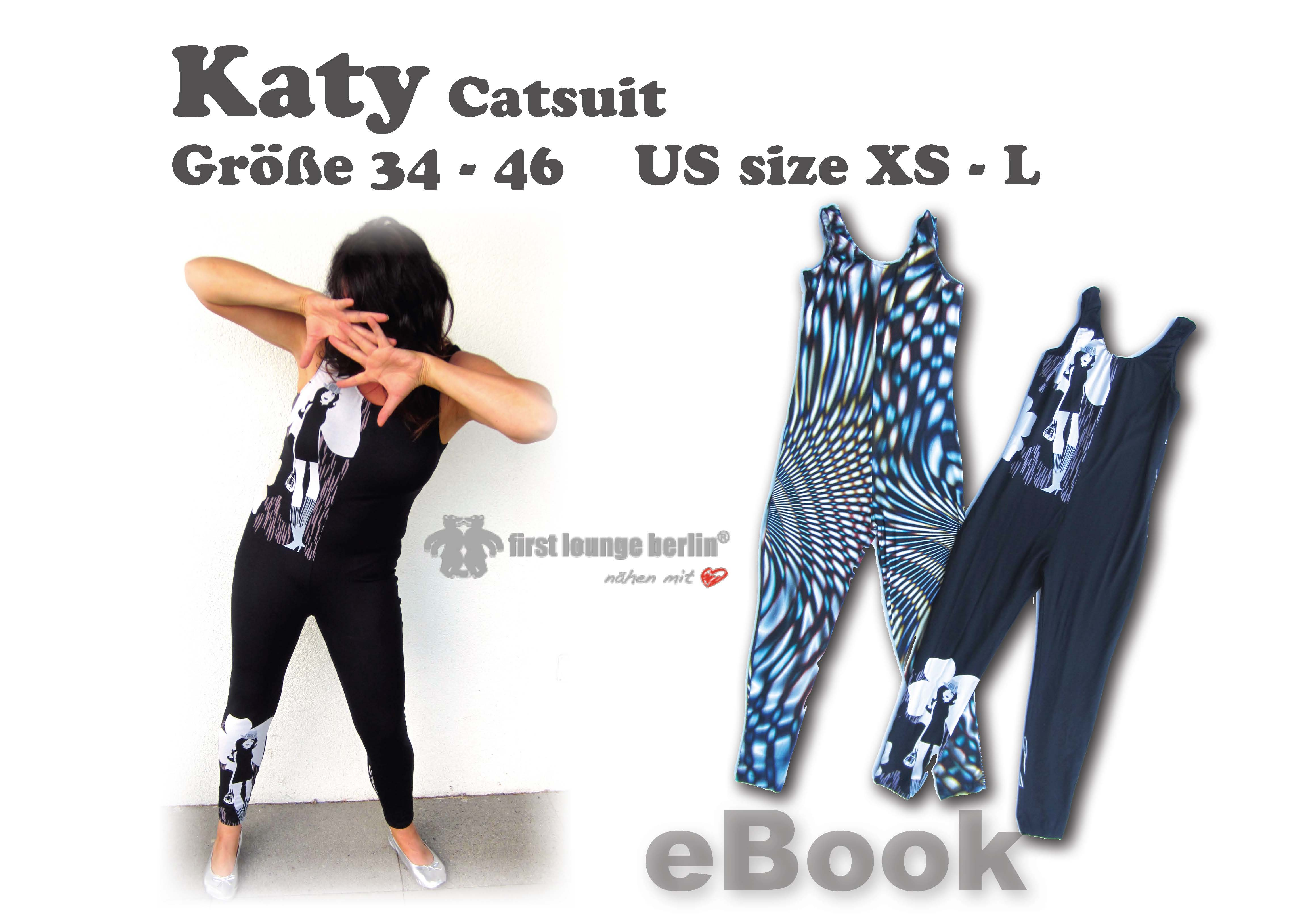 Katy Overall Nähanleitung mit Schnittmuster für Catsuit Jumpsuit Wellness-Anzug Gymnastikanzug Overall Leggings [Download]