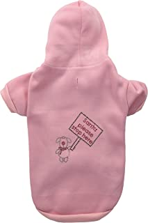 Mirage Pet Products Santa Stop Here Hoodies Pink XL