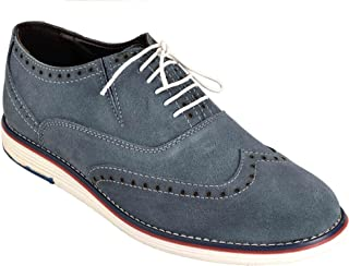 Levanse Synthetic Leather Matte Blue Corporate Casual Shoes/Sneakers for Men/Boys.