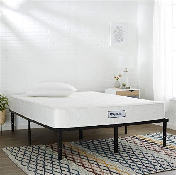 AmazonBasics Coil Mattress Features High Density Foam Layer Reversible 8 Inch King Size