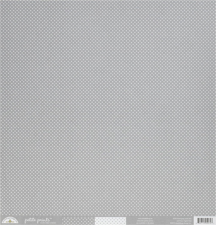 DOODLEBUG 5074 Petite Swiss Dot Cardstock Per Cheap Sheets Pack Dedication 25