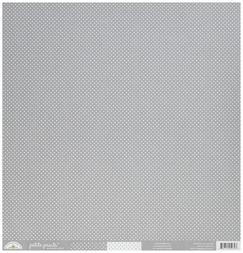 DOODLEBUG 5074 Petite Swiss Dot Cardstock (25 Sheets Per Pack), 12