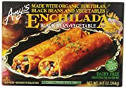 Amy's Enchiladas, Black Bean & Vegetable, 9.5 oz (Frozen)