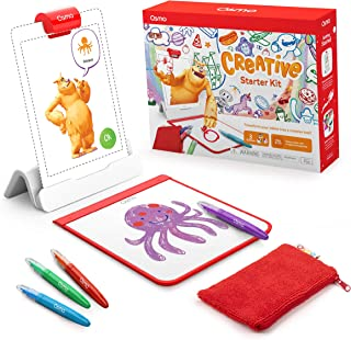Osmo - Creative Starter Kit for iPad - Ages 5-10 - Creative Drawing & Problem Solving/Early Physics - STEM - (Osmo Base In...