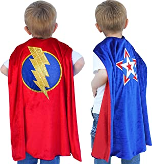 Reversible Superhero Costume Cape for Boys & Toddlers - Washable