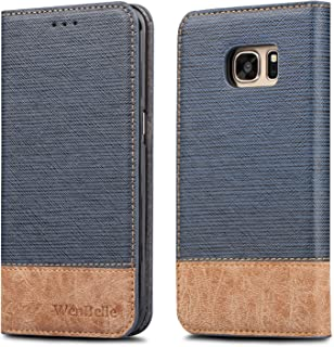 for Galaxy S7 Wallet Case,WenBelle [Blazers Series] Stand Feature,Double Layer Shock Absorbing PU Color Matching Leather Wallet Cover Flip Cases for Samsung Galaxy S7 5.1 inch(Blue)