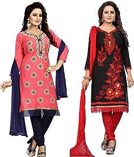 Ethnicset Women's Cotton Silk Salwar Suit Salwar Suit Material (rani-pari-combo)
