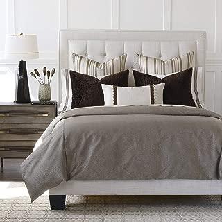 Eastern Accents Tesori Luxury Earth Toned Metallic King 7 Piece Bed Set, Brown