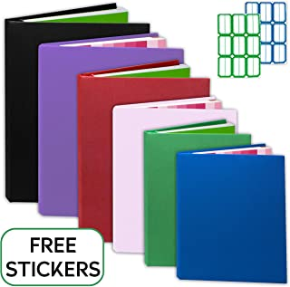 Kraftex Book Covers [6 Pack] Stretchable Book Covers for Hardcover, Paperbacks. Book Socks Covers for Textbooks. Book Protectors Washable, Durable, Reusable with Free Sticker Labels (Large)