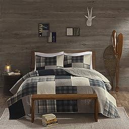 100% Cotton Quilt Reversible Plaid Cabin Lifestyle Design -