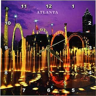 3dRose DPP_61947_1 Olympic Park Atlanta Georgia Wall Clock, 10 by 10-Inch