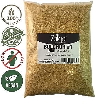 Bulgur Wheat #1 | Easy to Prepare, Delicious to Taste, 100% Whole Wheat Goodness | Good for Nutritious Quick Side Dishes, Pilafs & Soups | Also a Rice Alternative - 2 LBS (No. 1 - Fine Grain)