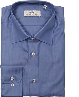 Remo Sartori - Camicia Uomo in Cotone Spigato, vestibilità Regolare, Maniche Lunghe, Made in Italy