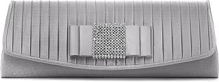 VINCENT PEREZ, Clutch, Abendtaschen, Umhängetaschen, Unterarmtaschen, Raffung, Strasssteinen, 26,5x9,5x4 cm (B x H x T)