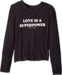 Superpower Long Sleeve Tee (Toddler/Little Kids/Big Kids)