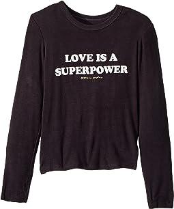 Superpower Long Sleeve Tee (Toddler/Little Kids/Big Kids)