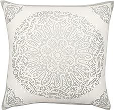 Now Designs 17 by 17-Inch Cushion, Mandala Print Silver