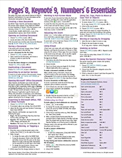 Pages 8, Keynote 9, & Numbers 6 for Mac Essentials Quick Reference Guide (Cheat Sheet of Instructions, Tips & Shortcuts - Laminated)