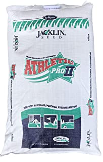 Jacklin Seed - Athletic Pro II | 50% Kentucky Bluegrass, 50% Perennial Ryegrass | Certified Grass Seed (20 lbs (8000 sq. ft.))