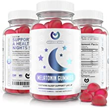 Purefinity Melatonin Gummies – Non-Habit Forming 5mg Sleep Aid for Kids & Adults - Vegan Berry Flavor Supplement - Healthy Restful Deep Sleep Cycles. Gluten Free & Non-GMO - 120 Gummies.