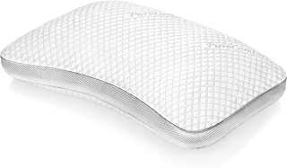 PureComfort – Internet's Most Advanced Pillow | Adjustable Loft | Curved Gusset Design | Neck & Back Pain Relief | CertiPUR-US Premium Memory Foam Fill | 5Yr Warranty | 100 Night Trial