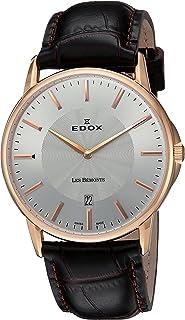 EDOX - Reloj Analógico para Unisex de Cuarzo con Correa en Cuero 56001 37R Air