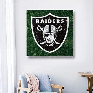 LEMOISTARS Frameless Sports Football 15.74''×15.74' 'Paintings Fabric Canvas Prints Picture Wall Art Poster Artwork Home Decor (Oakland Raiders)