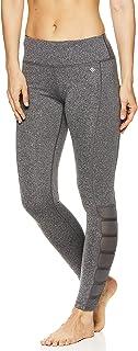 Nicole Miller Active Women's 7/8 Workout Leggings Performance Activewear Pants w/Elastic Inserts
