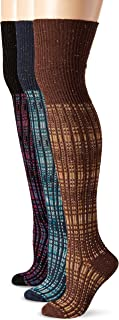 K. Bell Women's Plaid Over-the-Knee Socks (Pack of Three)
