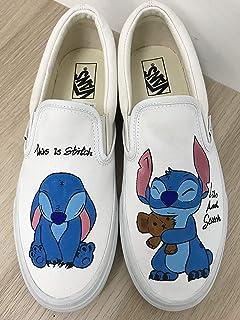 d9f111be15b7ca Lilo   Stitch Women s Vans Slipon Shoes Custom Stitch Anime Shoes Vans  Custom Hand Painted Shoes
