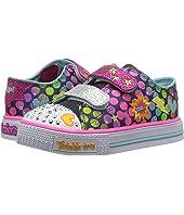 SKECHERS KIDS Twinkle Toes: Shuffles - Poppin' 10835N Lights (Toddler)
