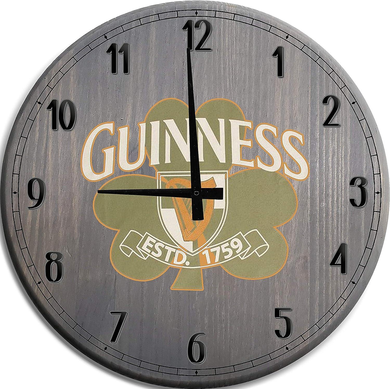 TBA 専門店 Large Wall Clock Guinness セール特価 Irish Cave Bar Man Beer Decor