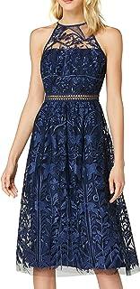 TRUTH & FABLE Amazon-Marke: TRUTH & FABLE Damen Maxi-Kleid mit Neckholder aus Chiffon