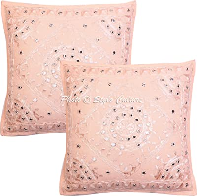 Amazon.com: Manta decorativa fundas de almohada 16 x 16 ...