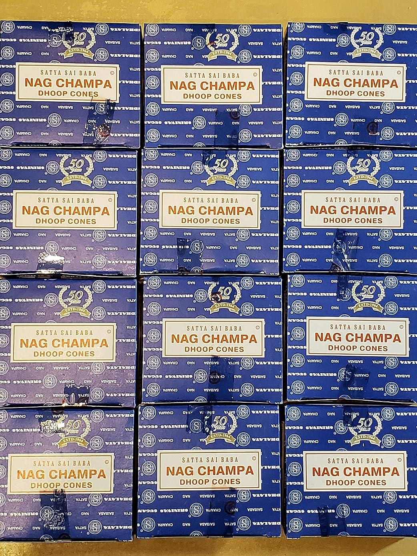 強化するチョーク換気お香 ナグチャンパ コーンタイプ 12箱