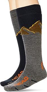 HEAD unisex HEAD Unisex Mountain Graphic Kneehigh Ski Socks (2 pack) Skidåkningsstrumpor (2-pack)