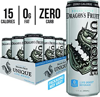 Unique Life Boost Keto Friendly Functional Beverage | Healthy Caffeine Drink | Natural Green Tea Reishi Mushroom Extract Low Calorie | Sugar Free, 12oz Cans 12 Pack