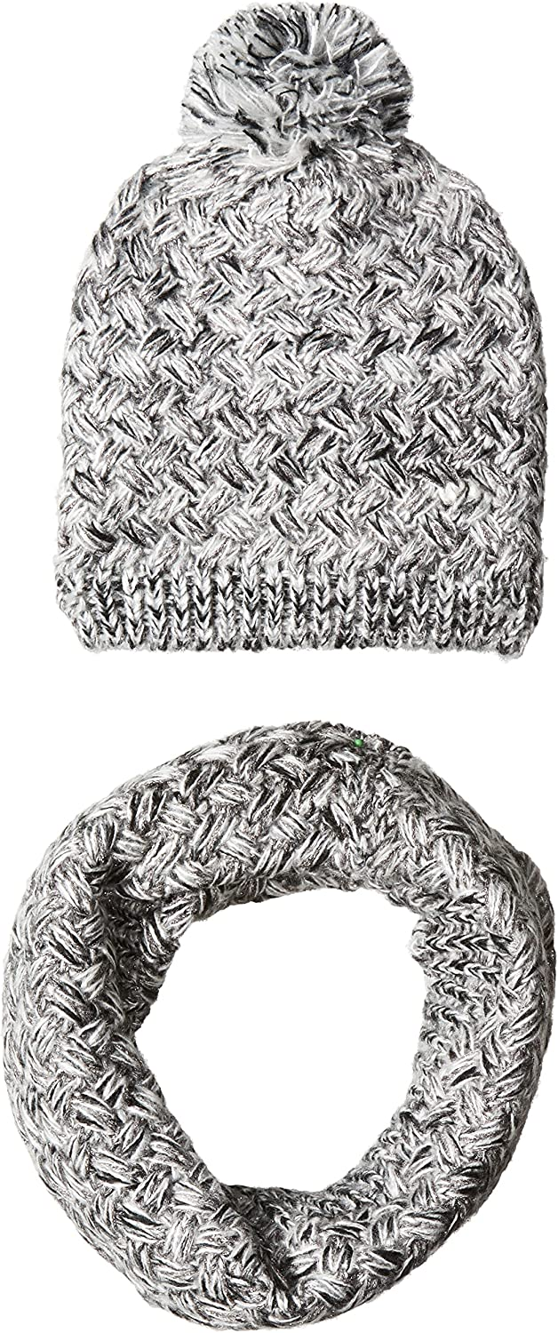 Betsey Johnson Women's Two Piece Gift Set with Night in Shining Armor Beanie and Snood