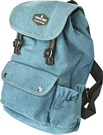 Classic Canvas Backpack for Hiking Camping Backpacking Trekking - Cedar Gear PRIME Series - Daypacks Computers Laptop Backpacks Unisex Casual Rucksack Satchel Bookbag Hiking Bag for Men Women