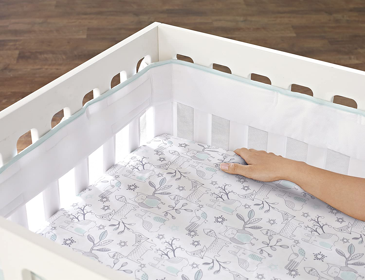 Just Born Fresh Air Crib Liner, Aqua