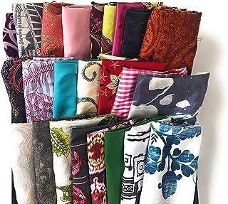 swirls 7 ounces bright cheery colors Six Mix /& Match Fabric Remnants Quilt Scraps floral paisley mandala