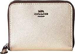 db3f423bb2929f Coach medium zip around wallet with prairie rivets