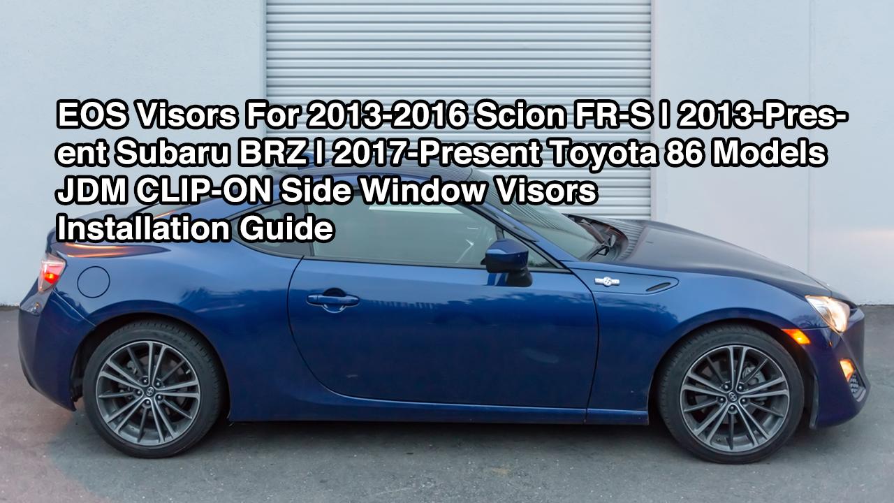 4 Pcs Set Compatible With 2009-2017 Toyota Venza Tuningpros WD2-464 Outside Mount Window Visor Deflector Rain Guard Dark Smoke