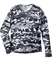 Hot Chillys Kids Midweight Print Crew (Little Kids/Big Kids)